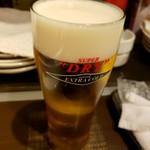 鳥助 - ビール1杯目
