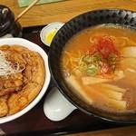 ぶたどん処 ぶた屋 - 料理写真:Aセット特上豚丼(バラ)+醤油ラーメン1,300円(税込)