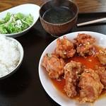楽食中華 飛燕 - 油淋鶏塊 ご飯少なめ