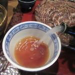 重吉 - 蕎麦湯は自然体に近い