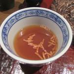 重吉 - 揚げ蕎麦をクルトン代わりに浮かべて