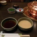 しゃぶ禅 -  ポン酢と胡麻ダレです。