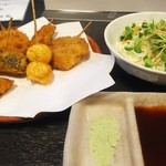 御馳家 - 串揚げミニコース  7本  1000円    サラダ付き