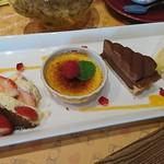 ロクシタンカフェ - 苺のティラミス、ブリュレ、タルトショコラ、ガトーマルシェ