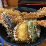 天秀 - 料理写真:大えび穴子天丼
