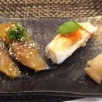 玄海鮨 - 延長戦  サバΧ2  エビの炙り