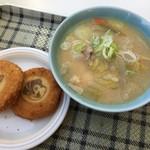 沼尻スキー場第1レストハウス - 料理写真:豚汁とオリジナルコロッケ