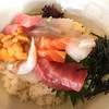 わらじや - 料理写真:海鮮丼定食 1280円他にうどんやホタテフライもありました