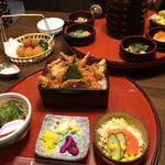 合掌レストランまこと   - 天丼セットとカキフライ!