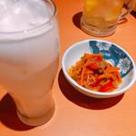 梵天食堂 - 料理写真:お通し ピリ辛南蛮漬け