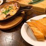 煙 燻製バル トリベーネ - 魚介の燻製オイルアヒージョ