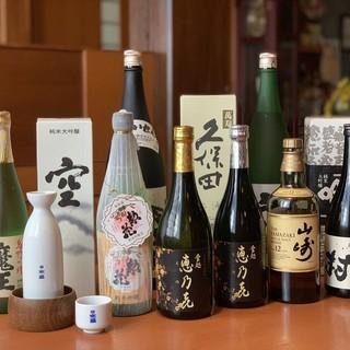 焼酎・地酒・ウイスキー…定番品から希少酒まで幅広くご用意◎