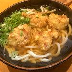 ひなたうどん - 料理写真:「とり天うどん」(700円)。