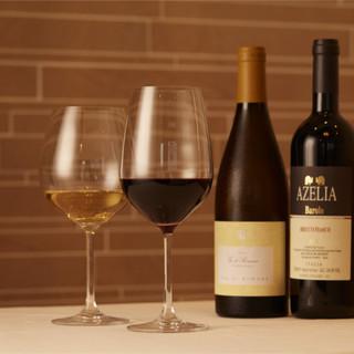 """60種以上ご用意◆イタリア産""""ワイン""""で最高のマリアージュを"""