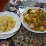 中国料理 龍門 - フライ麺+ミニ炒飯920円