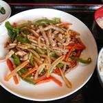 好味苑 - チンジャオロ-ス-定食