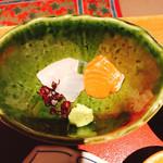和食にしざき - サーモンと鯛がこんにちは!