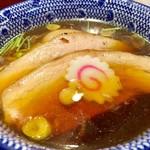 神田 勝本 - 特製清湯(しょうゆ)つけそば 麺は少なめ1,030円