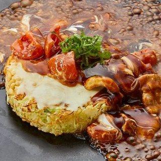 農林水産省総合食料局長賞を受賞したトマトのお好み焼き