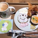 ストーリー ストーリー - アッチのパン パン パンケーキ とげとげアイス添え&カフェラテ