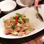 鳥みつ - 鶏とカシューナッツ炒めとライス