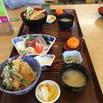 魚すず - 料理写真:奥が「天丼定食1000円」私の天丼と同じかと思いきや、全く違いました!