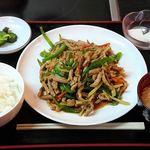 好味苑 - 好味苑 @本蓮沼 日替わりランチ Aセット 豚肉とピーマンの細切炒め 税込500円 白飯小(bai fan xiao)でお願い