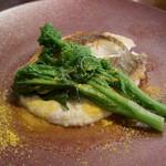 ミナミ - お魚料理 天然平目のソテー海老芋のソース