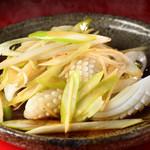 鮮魚・中華居酒屋 愛香楼 - イカのネギしょうが