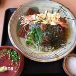 レストラン こだち - 黒ゴマ麺(冷)大海老付 800円