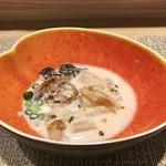 ファリナモーレ - 鱈のクリームスープ@鱈汁のようなクリームスープ