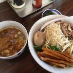 ゴーゴーロッキー - 料理写真:つけ麺+メンマ+海苔+煮卵(サービス)