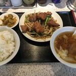 らーめん30 - (料理)ニラレバー炒め定食