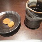 多摩うどん ぽんぽこ - 2011/10 お茶とクッキーのサービス