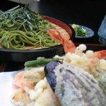 美さ路  - 天ぷら茶蕎麦 1150円