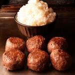 ハンバーグチャレンジ!インディアンズハンバーグ 3ポンド(約1.3kg) + 山盛りライス 3ポンド