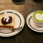 Saten - 『あんバタートースト』 『抹茶ラテ』