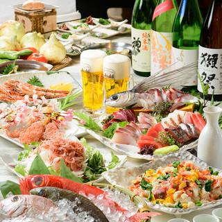 歓送迎会に!海鮮づくし飲み放題付コースがお得!!