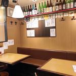 nihonshukanki - テーブルの一角。 満席でした('19.2月中旬)