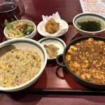 102642081 - 麻婆豆腐定食、+200円でチャーハンに変更