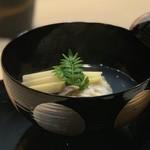 味あら井 - ●渡蟹真丈、筍、鳥貝の椀