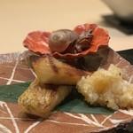 味あら井 - ●マナガツオ西京焼き、のどぐろ塩焼き、つべた貝