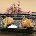 味あら井 - ●虎河豚、太刀魚フライ