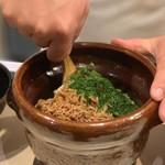 味あら井 - ●筍の土鍋御飯