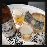 立ち飲み居酒屋 ドラム缶 - 大瓶ビール 500円