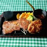 レストラン ファットボーイ - 料理写真:ハンバーグ&ステーキ