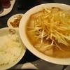 喜多方ラーメン坂内 - 料理写真:ねぎ焼豚ラーメン・半ライス無料サービス