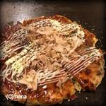 102666727 - 若松潮風Ⓡキャベツの豚チーズカレーお好み焼き