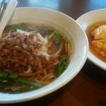 中華料理 福祥 - 料理写真:台湾ラーメン&天津飯