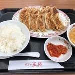 餃子の王将 - 餃子定食(ダブル)